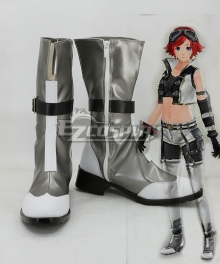God Eater 2 Protagonist Female Silver Shoes Cosplay Boots