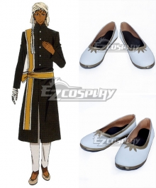Black Butler Agni White Cosplay Shoes