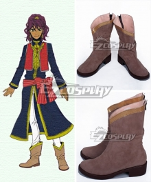 Black Butler Prince Soma Brown Shoes Cosplay Boots