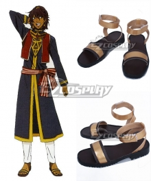 Black Butler Prince Soma Gold Cosplay Shoes