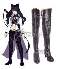 RWBY Volume 4 Blake Belladonna Black Shoes Cosplay Boots