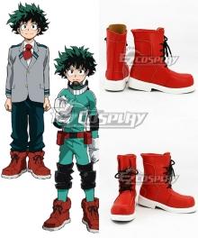 My Hero Academia Boku no Hero Akademia Izuku Midoriya Deku Red Cosplay Shoes