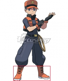 Pokémon Ranger Trainer Class Jackson Orange Shoes Cosplay Boots