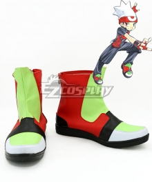 Pokemon Pocket Monster Advanced Ruby Green And Red Cosplay Shoes
