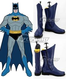 DC Comics Batman Bruce Wayne Blue Shoes Cosplay Boots
