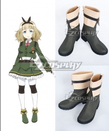 AntiMagic Academy The 35th Test Platoon  Usagi Saionji Green Shoes Cosplay Boots