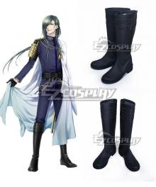 Touken Ranbu Online Nikkari Aoe Black Shoes Cosplay Boots