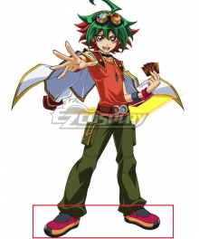 Yu-Gi-Oh! Yugioh ARC-V Yuya Sakaki Red Cosplay Shoes