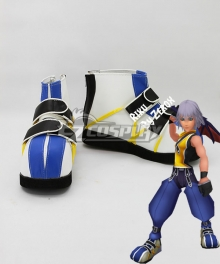 Kingdom Hearts 1 Riku Blue And White Cosplay Shoes
