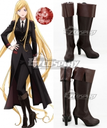 Noragami Aragoto Bishamonten Veena Brown Shoes Cosplay Boots