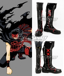 Tsubasa Reservoir Chronicle Kurogane Brown Cosplay Shoes