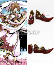 Tsubasa Reservoir Chronicle Sakura Red Cosplay Shoes