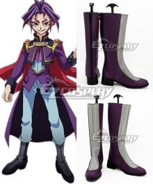 Yu-Gi-Oh! Yugioh ARC-V Joeri Yuri Grey And Purple Shoes Cosplay Boots
