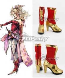 Final Fantasy Terra Branford Dissidia Red Shoes Cosplay Boots