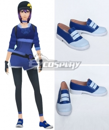 Pokémon GO Pokemon Pocket Monster Trainer Female Blue Cosplay Shoes