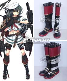Kantai Collection KanColle Torpedo Cruiser Kiso Kai Ni Black Shoes Cosplay Boots