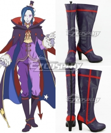 Re: Life In A Different World From Zero Roswaal L Mathers Purple Shoes Cosplay Boots