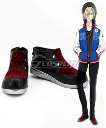 Yuri on Ice YURI!!!on ICE Plisetsky Yuri Black Red Cosplay Shoes - A Edition