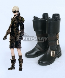 NieR: Automata 9S YoRHa No.9 Type S Black Shoes Cosplay Boots