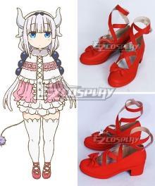Miss Kobayashi's Dragon Maid Kanna Kamui Red Cosplay Shoes