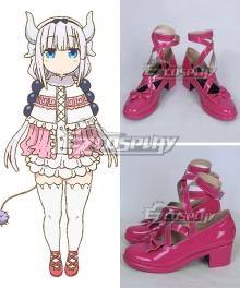 Miss Kobayashi's Dragon Maid Kanna Kamui Pink Cosplay Shoes - A Edition