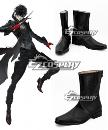 Persona 5 Joker Protagonist Akira Kurusu Ren Amamiya Black Shoes Cosplay Boots - A Edition