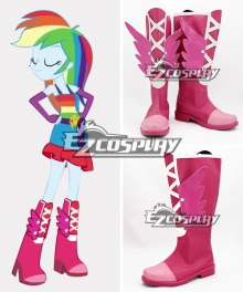 My Little Pony: Equestria Girls Rainbow Dash Pink Shoes Cosplay Boots