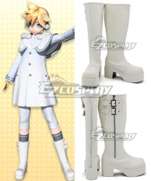 Vocaloid Kagamine Len White Shoes Cosplay Boots