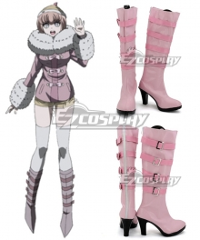 Danganronpa Andoh Ruruka Pink Shoes Cosplay Boots