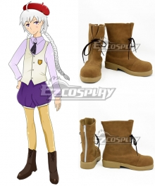 Hetalia Kugelmugel Light Brown Shoes Cosplay Boots
