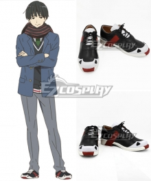 Kyoukai no Kanata Nase Hiroomi Black Cosplay Shoes