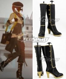 RWBY Leader of Team CFVY Coco Adel Black Shoes Cosplay Boots