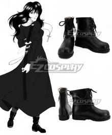 Hellsing Yumie Takagi Black Shoes Cosplay Boots