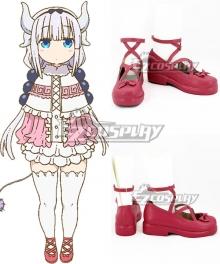 Miss Kobayashi's Dragon Maid Kanna Kamui Pink Cosplay Shoes - B Edition