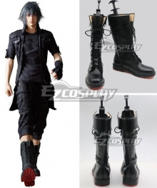 Final Fantasy XV Noctis Lucis Caelum Black Shoes Cosplay Boots