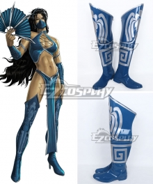 Mortal Kombat Kitana Shoes Cosplay Boots