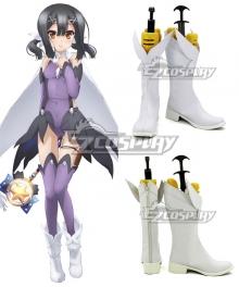Fate Kaleid Liner Prisma Illya Miyu Edelfelt White Shoes Cosplay Boots