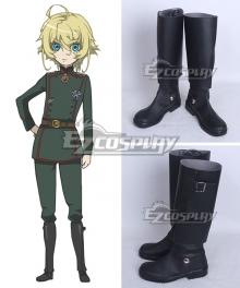 Saga of Tanya the Evil Tanya von Degurechaff Black Shoes Cosplay Boots