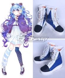 Vocaloid Hatsune Miku Winter Night Miku White Shoes Cosplay Boots