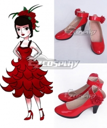 The Boy with the Cuckoo-Clock Heart Miss Acacia Red Cosplay Shoes