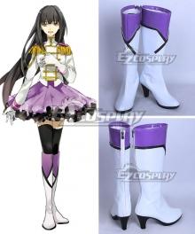 Tsukiuta. Yuki Hanazono Fluna January White Shoes Cosplay Boots