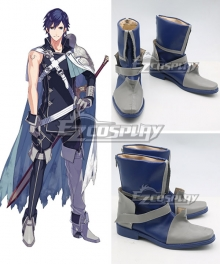 Fire Emblem Chrom Blue Shoes Cosplay Boots