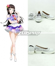 LoveLive!Sunshine!! Aqours Kurosawa Dia Kanan Matsuura White Cosplay Shoes