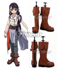Yu-Gi-Oh Yugioh Duel Monsters Lulu Obsidian Kurosaki Ruri Brown Shoes Cosplay Boots