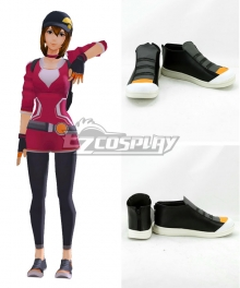 Pokémon GO Pokemon Pocket Monster Trainer Female Black Cosplay Shoes