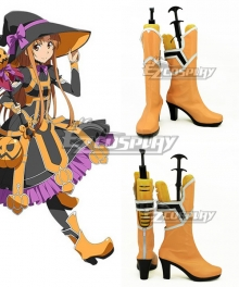 Sword Art Online Yuuki Asuna Yuki Asuna Orange Shoes Cosplay Boots