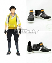 Pokémon GO Pokemon Pocket Monster Trainer Male Black Cosplay Shoes