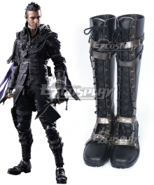 Kingsglaive: Final Fantasy XV FF15 Nyx Ulric Black Shoes Cosplay Boots