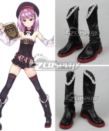 Fate Grand Order Helena Blavatsky Black Shoes Cosplay Boots