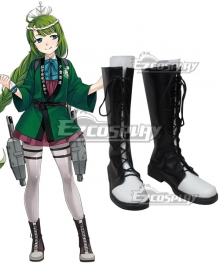 Kantai Collection Yūgumo Makigumo Akigumo Naganami Black Shoes Cosplay Boots